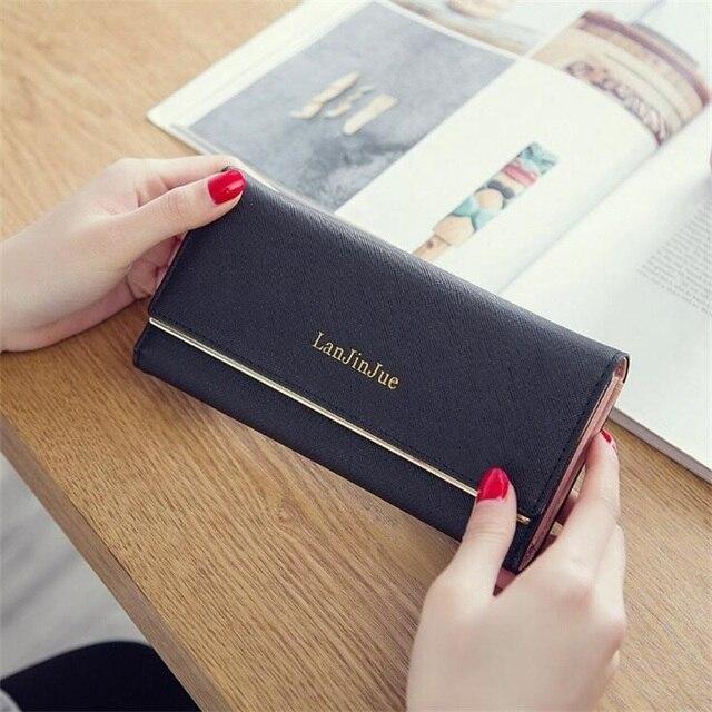 b0c4de540bb US $9.24 |FGJLLOGJGSO Brand Wallet Women Big Capacity Three Fold Lady  Purses High Quality Leather Clutch Female Wallets carteira feminina-in  Wallets ...