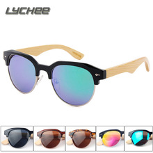 LYCHEE 2017 New High – quality handmade bamboo sunglasses color film polarized men and women glasses fashion Europe and the Unit