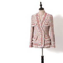 New Thicking Wool Blend Coat Women 2019 V-neck Long Sleeve P