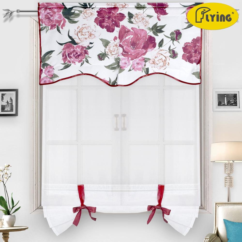 Modern Short Window Kitchen Tulle Voile Curtain For Living Room Divider Home Transparent Sheer Curtain Drapes Window VoileModern