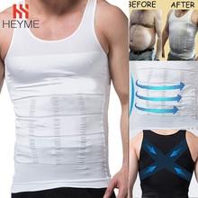 HEYME Men Slimming Body Shaper Tummy Shaper Vest Underwear Belly Waist Muscle Girdle Shirt Fat Burning Corset Loss Weight E