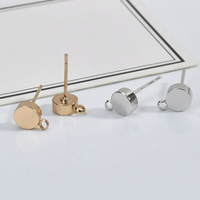 14k Gold Plated Earring DIY material thickened round band hanging ,ear studs, ear pin , Earrings accessories