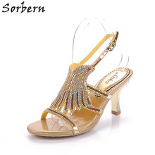 Adult Crystal Sandals Rome Fashion Women Party Shoes Zapatos Mujer Plus Size Sandalias Mujer 2017 Cheap Modest Sandals Women(China)