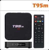 ขายร้อน!หุ่นยนต์ทีวีกล่องT95M Quad Core Amlogic S905 64bit UHD 2พัน* 4พันIPTV HDMI 2.0 KODI 1กรัม/8กรัมLEDแสดงสมาร์ททีวีอินเตอร์