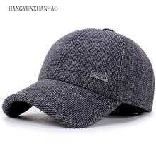 2019 Men Winter Baseball Caps Ear Protection Warm Casquette Cap Thicken Woolen Gorras Snapback Hat For Man High Quality цена в Москве и Питере