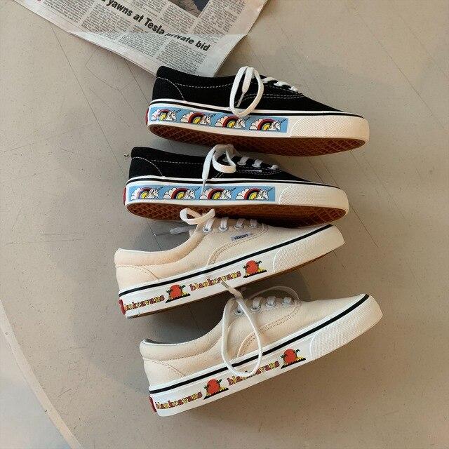 Unicorn Canvas Women Sneakers
