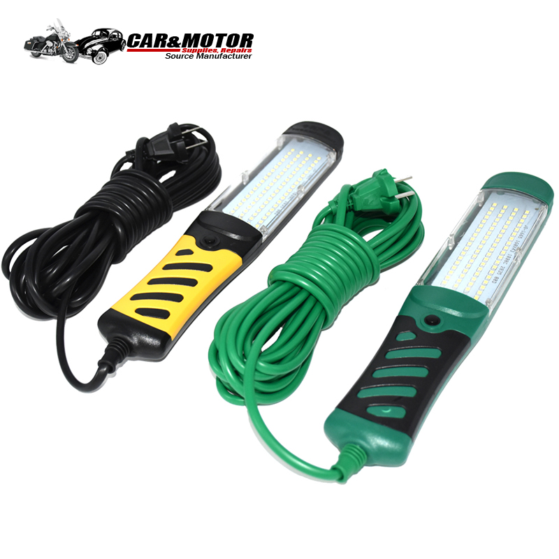 Portable Emergency Safety Work Light 80 LED Beads Flashlight Magnetic LED Car Inspection Repair Handheld Work Lamp Multi Plug