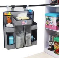 Promotion! Storage Bag Baby Crib Bed Brand Cotton Crib Organizer Nursery Hanging Storage Bag Cotton Cartoon 52*48cm 4colors