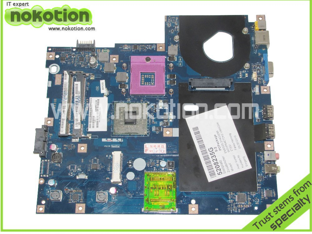 NOKOTION LA-4851P MBN5402001 Laptop motherboard For Acer Emachines E525 gl40 ddr2 KAWF0 L01 MB.N5402.001 Mainboard mbn7602001 la 4854p laptop motherboard for acer emachines 5732 e525 intel gl40 ddr3 mb n7602 001