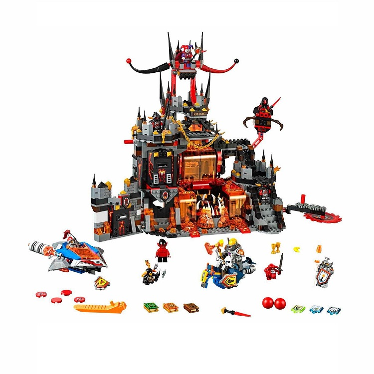 New lepin 14019 Knights Jestros Vulkanfestung Model Building Kit Assemblage Blocks font b Toy b font