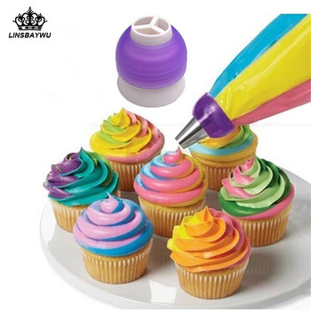 Icing Piping Bag Nozzle Converter Tri-color Cake Decorating