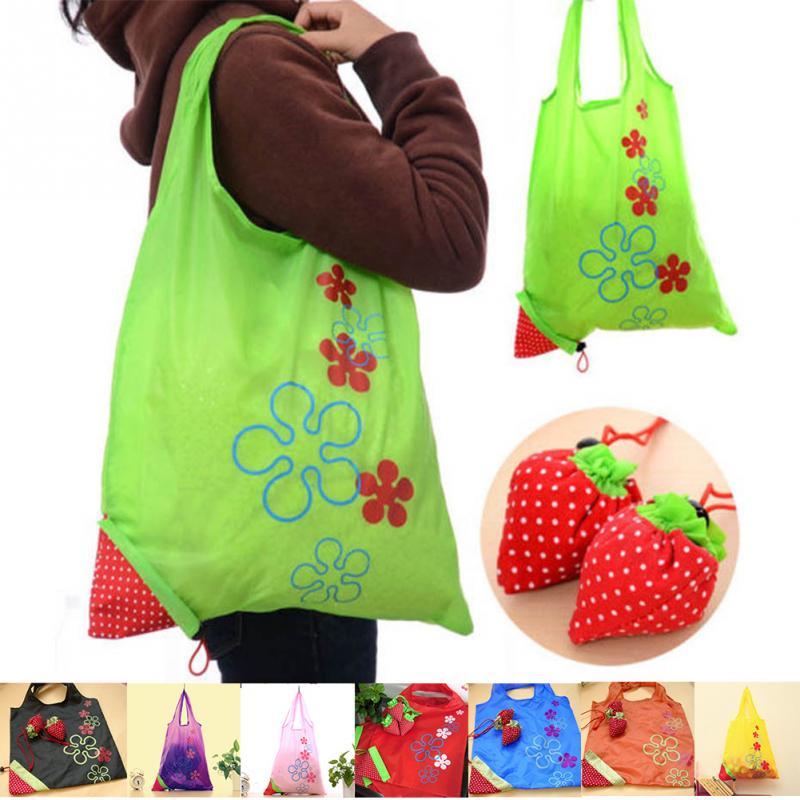 aliexpress com buy eco storage handbag strawberry foldable