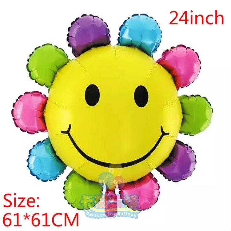 1 шт./лот красочный цветок солнца фольгированные шары Горячая мультфильм баллон день рождения праздничное мероприятие и вечеринок Свадебны…