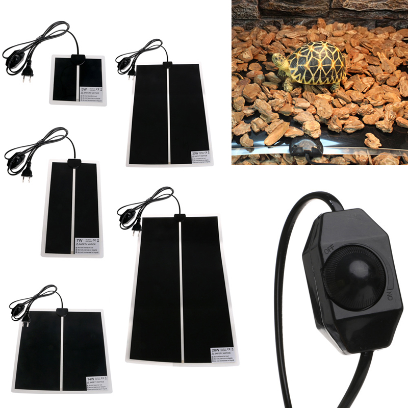 Heat Mat Reptile Brooder Incubator Pet Heating Pad Brew Eu Plug 5w 7w 14w 20w 28w