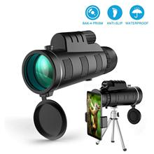 40X60 HD Mobile Phone Camera Lens BAK4 Prism Monocular Teles