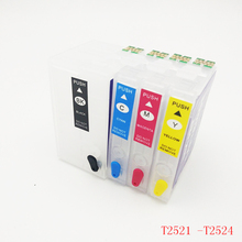 T2521 252 Refillable Ink Cartridge For Epson T2521xl WorkForce WF-3620 WF-3640 WF-7610 WF-7620 WF-7110 WF-7710 WF-7720 WF-7210