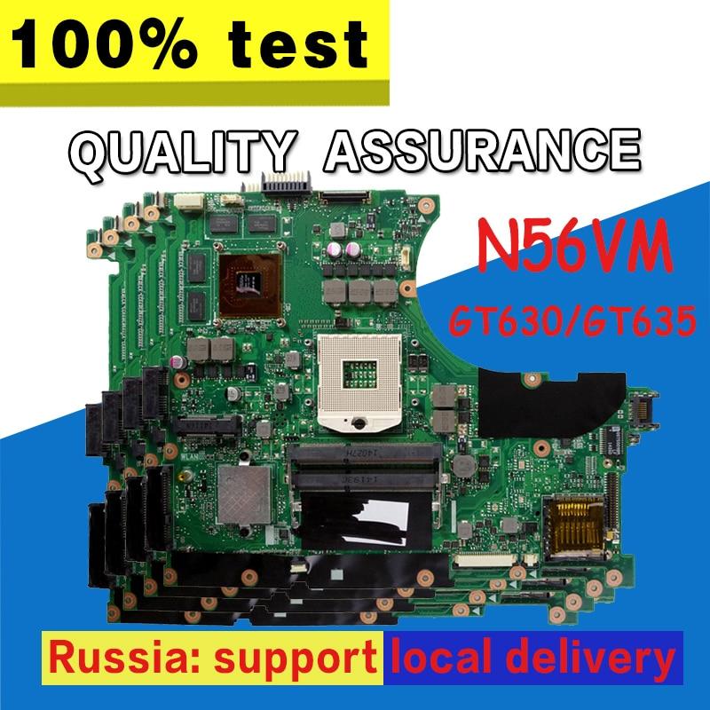 N56VM Motherboard GT630M/GT635M 2g For ASUS N56V N56VM N56VV N56VJ N56VB Laptop motherboard N56VM Mainboard N56VM Motherboard portuguese laptop keyboard for asus n56jk n56jn n56jr n56v n56vb n56vj n56vm with c shell palmrest cover backlit po