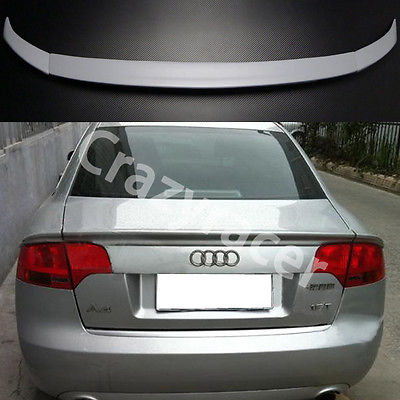 A4 B7 PU ABT Style Rear Trunk Lip Spoiler Wing For Audi A4 B7 2005-2008 Unpainted a4 b7 rear roof lip spoiler wing for audi a4 b7 2005 2008 carbon fiber abt style