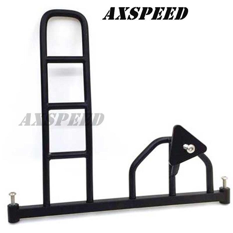 Support de pare-chocs arrière avec support de support de pneu de rechange + échelle pour voiture 1/10 RC D90