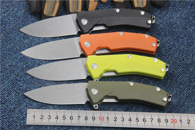 Miker 60HRC Sleipner steel blade G10 handle 4 colors folding knife outdoor camping knife survival edc tool utility gift Tactical quality tactical folding knife d2 blade g10 steel handle ball bearing flipper camping survival knife pocket knife tools