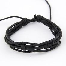New Style Leather Multilayer Bracelet Handmade Surfer Bracelet Bangle Wristband Jewelry Men Bracelets Pulseiras