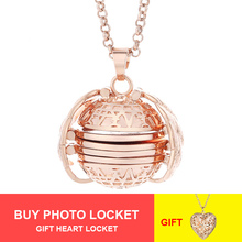 New Design Colorful Expanding Photo Locket Pendant Necklace for Women Jewelry Gift Photo Box Collar Fashion Angel Wings Necklace цена
