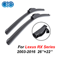 OGE Pair Wiper Blades For Lexus RX Series RX300 RX350 RX400H RX450H 2003-2016 26''+22'' Rubber Windscreen Car Accessories