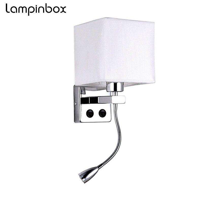 LED Lampe De Chevet Avec Interrupteur et lampe De Lecture Flexible Lit Lampe POUR Escalier Salon Chambre Couloir Balcon LP25