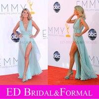 Heidi Klum Dress V Neck High Slit 2012 Emmy Awards Celebrity Red Carpet