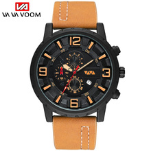 Mens Watches Top Luxury Brand  WristWatches Leather Sports Quartz Men Clock Waterproof Military relogios