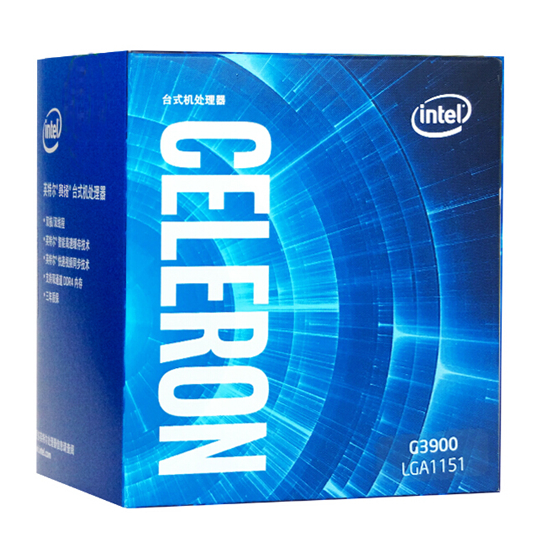 Intel Celeron Processor G3900 Boxed processor LGA1151 14 nanometers Dual Core 100% working properly Desktop Processor