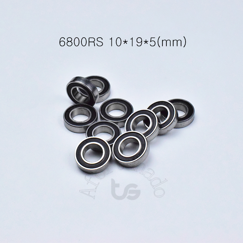 6800RS 10*19*5(mm) 10piece Free Shipping Bearing ABEC-5  6800 Chrome Steel Bearing Rubber Sealed Bearing Thin Wall Bearing 61800