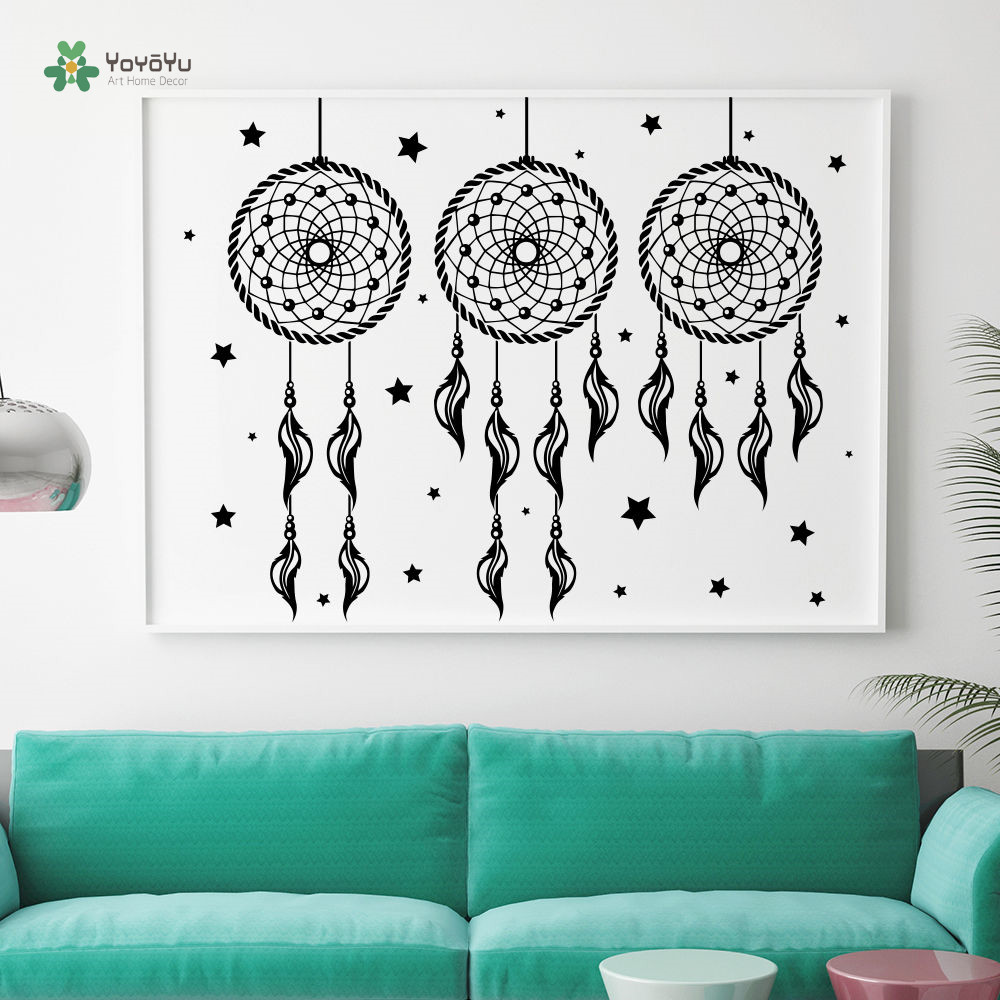 YOYOYU Wall Decal Vinyl Art Decor Fashion Bedroom Dream Catcher Boho Sticker Repetable YO090