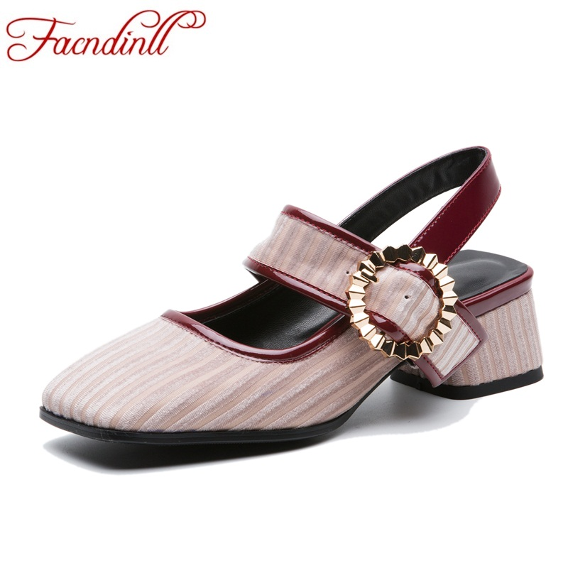 FACNDINLL spring autumn elegant high heels party wedding shoes woman 2018 comfortable leather women shoes thick heel women pumps siketu free shipping spring and autumn high heels shoes career sex women shoes wedding shoes patent leather style pumps g017
