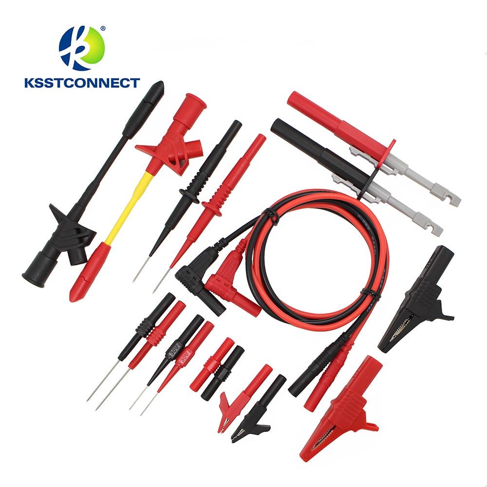 DMM09 9 Par/set Elektronische Specialiteiten Kit De Cables De Prueba De Sonda De Prueba Kit Universal Multímetro Sonda Lleva Kit