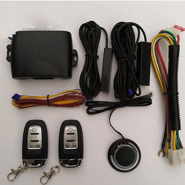 For Audi Car Alarm System Function Remote Central Lock Push Remote Auto Keyless Entry Starline Car Engine PKE Button Start Stop