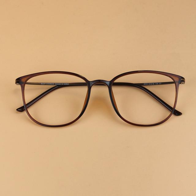 2016 homens Da Marca Do Vintage Geek Aço Carbono Ultra-leve Óculos de Armação Miopia Das Mulheres Super Grande Nerd Quadro Decorativo óculos
