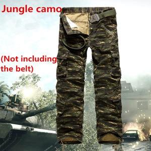Image 5 - 9 colors Mens Quân Quân Ngụy Trang Quần Cargo Multi Quần pocket Quan Hệ Nhân Quả Straight Dài Baggy Loose tactical quần hàng quần (không Dây)