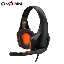 OVANN X1 Wired Gaming Headset with Microphone Volume Control 3.5mm Audio Jack With Microphone PC Headphone Earphone for Computer