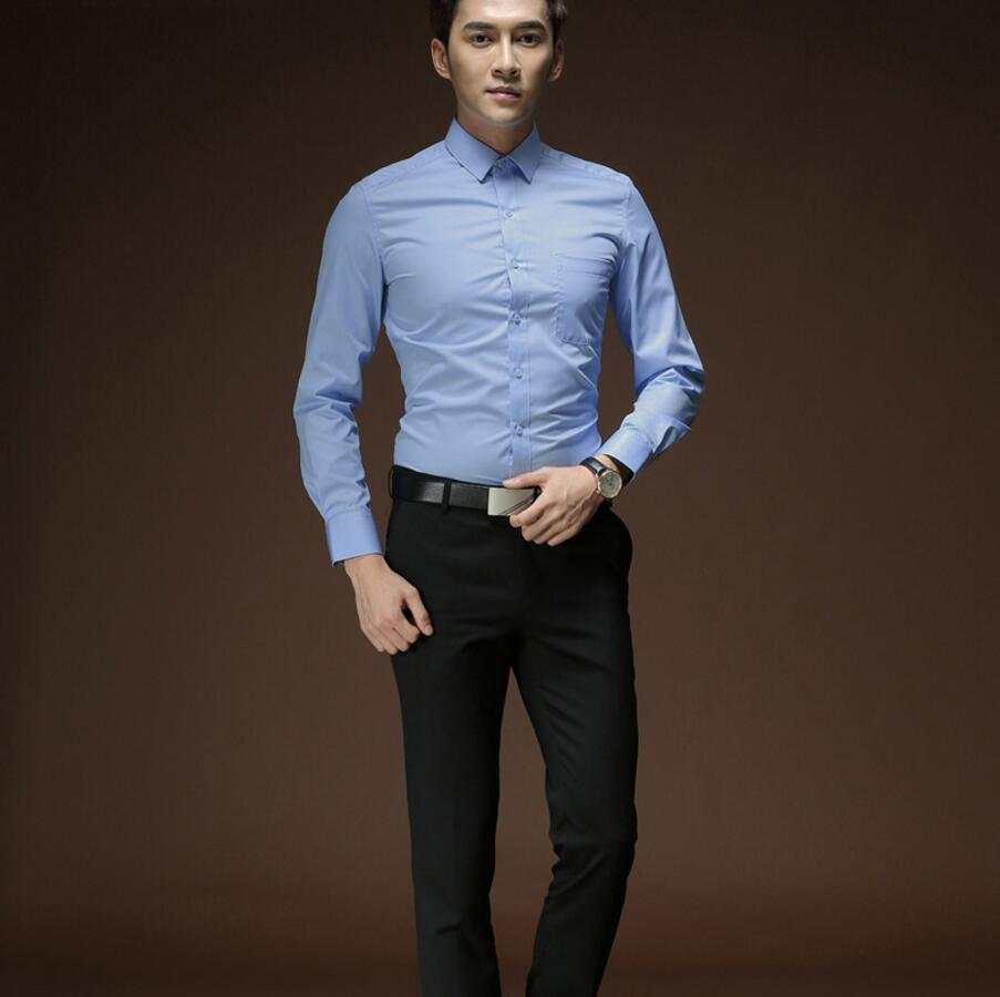 Wedding Hairstyle For Man: Fashion Style Men's Shirt With Long Sleeves Formal Wedding