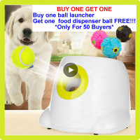 Dogs Ball Launcher For Dog Toy Tennis Launcher thrower Toys Tennis Pet Puppy automatic ball thrower interactive dog toys