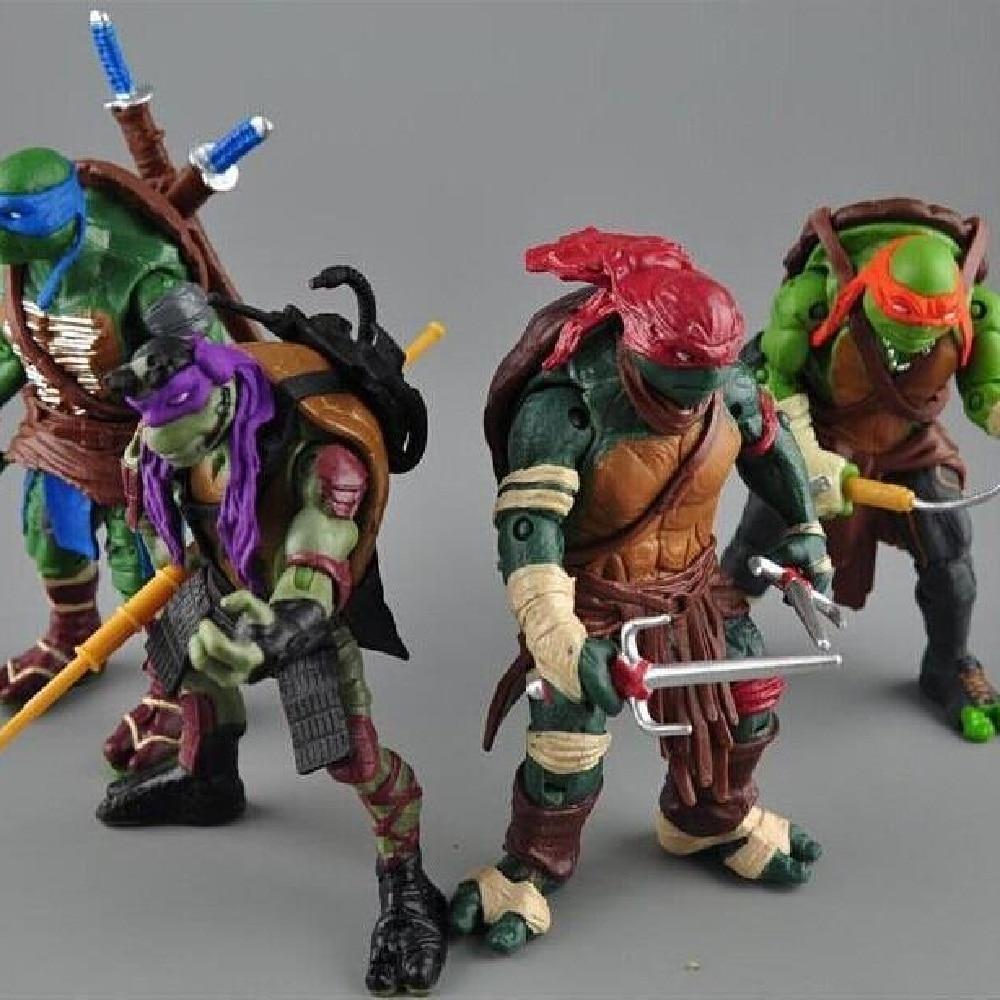 2016 New NECA Toy 4 pieces/<font><b>lot</b></font> <font><b>Teenage</b></font> <font><b>Mutant</b></font> <font><b>Ninja</b></font> <font><b>Turtles</b></font> <font><b>PVC</b></font> Action Figure TMNT Model Brinquedos Christmas Gift