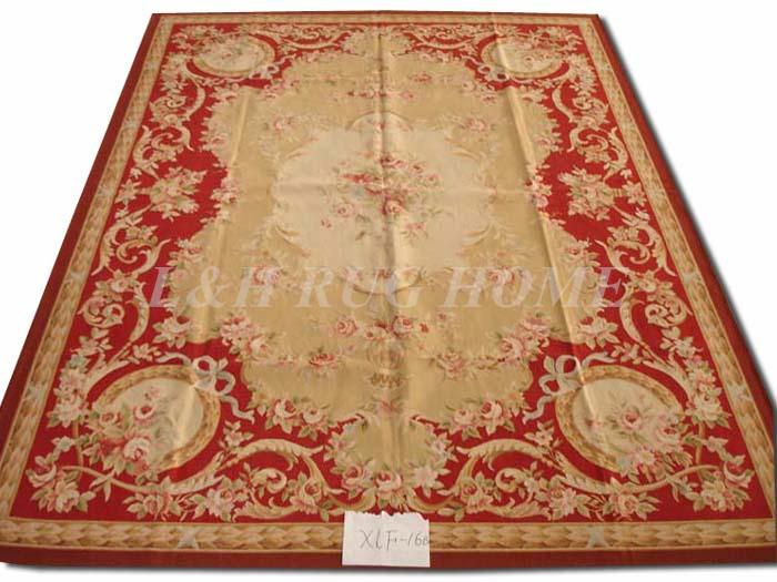 Free shipping  9x12 French aubusson carpets hand knotted rugs Woolen French Aubusson Rugs high quality rugFree shipping  9x12 French aubusson carpets hand knotted rugs Woolen French Aubusson Rugs high quality rug