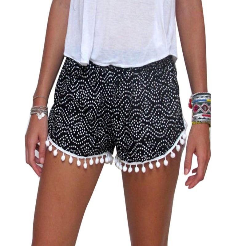 Fashion Wanita Sexy Summer Kasual Shorts Wanita Tinggi Pinggang Femme - Pakaian Wanita
