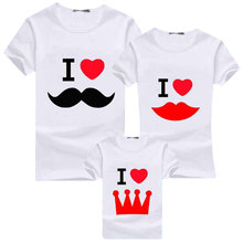 Family Look T-Shirts T-shirt Matching Attire Father Mother Kids Tshirts Parentage Clothes Tee Shirts Tops Gift for Lovers