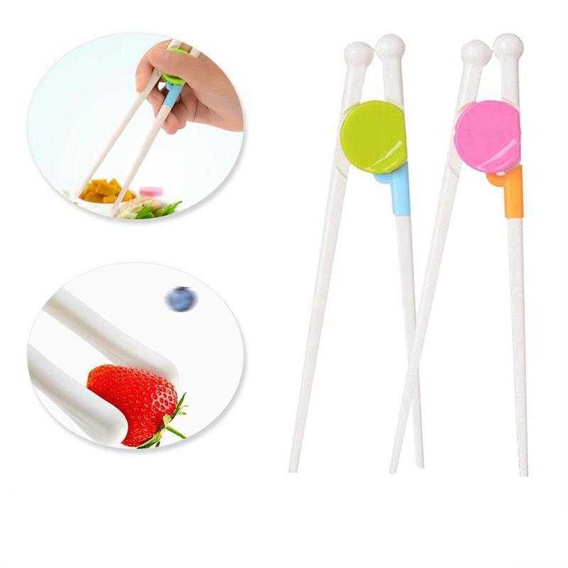 1Pair Children Chopsticks Kids Baby Learning Helper Training Chopsticks For Right Hand Children's Educational Kitchen Tools