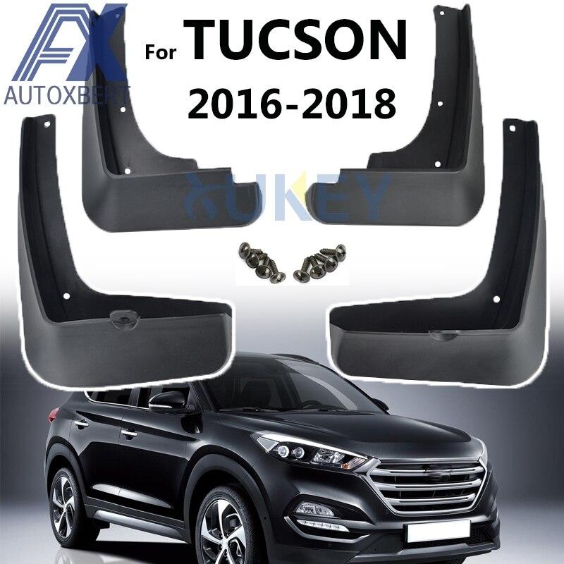 For Hyundai Tucson 2016-2018 4PCS Car Mud Flap Flaps Splash Guard Mudguards