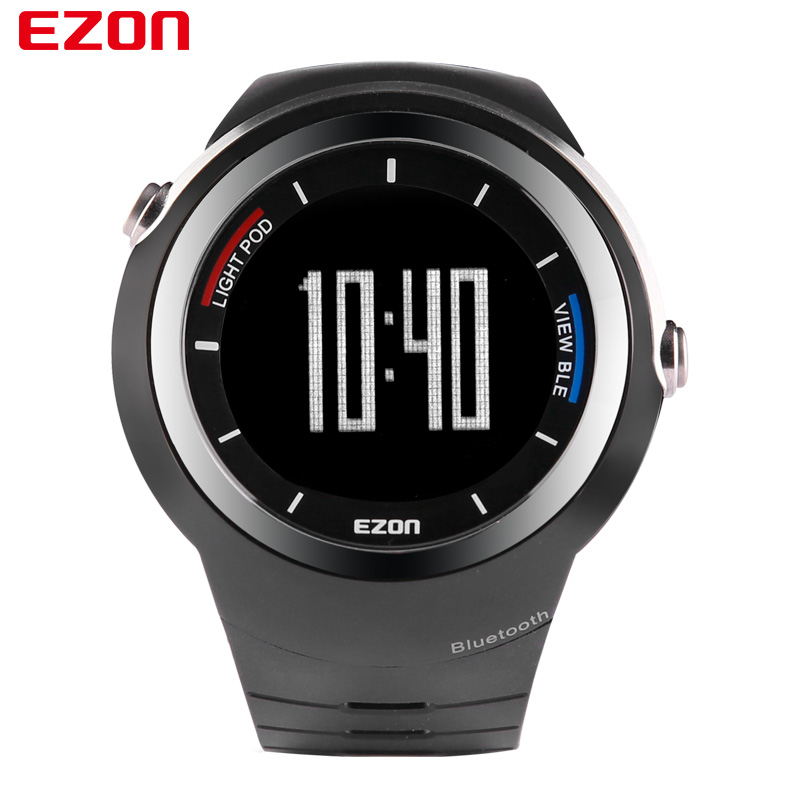 EZON Brand 2017 New Style Smart Bluetooth Watch Multifunctional Wristwatch Sports Digital Watches for IOS Android S2 ezon outdoor sports for smart gps watches running male multifunctional 5atm waterproof electronic watch g1 black