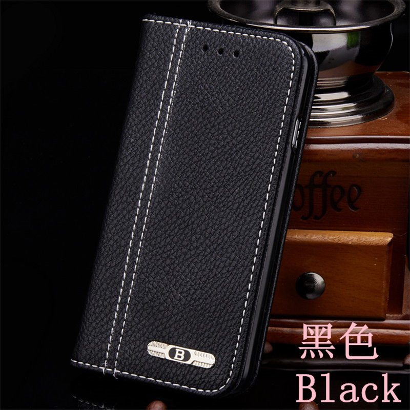 Lichee Luxury Leather Case for iphone X / 8 / 7 plus for iphone 6 / 6s / 5 / 5s / 4s Flip Cover Vintage Style Wallet Phone Bag
