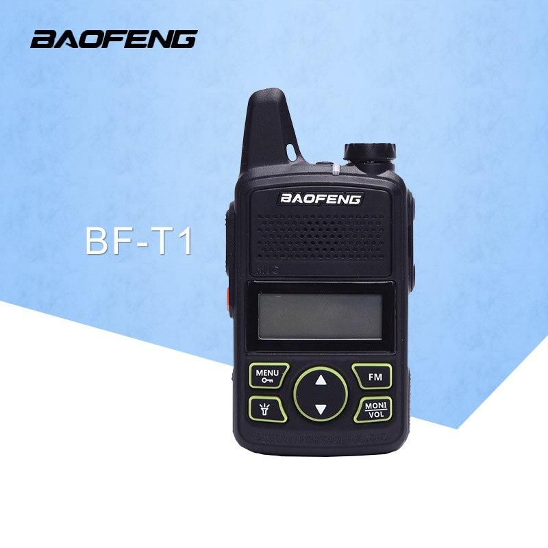 BaoFeng BF T1 20 kanäle Mini walkie talkie ultradünne micro fahren 400-470 MHz BaoFeng Hotel zivilen walkie talkie